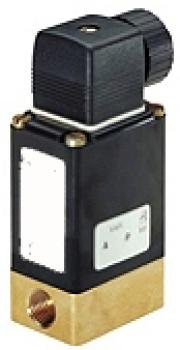 Solenoid Valve With Isolating Diaphragm - 3/2-Way - 0 To 10 bar - G 1/4""