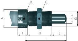 Suspension à pointes pour les amortisseurs ACE - M8x1 à 64x2mm