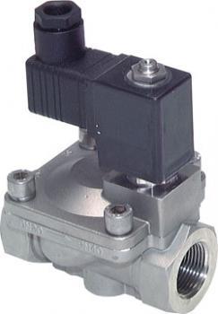 Magnetventil - 2/2-Wege - Edelstahl - Druckluft Wasser Öl - 0 bis 20 bar - strom