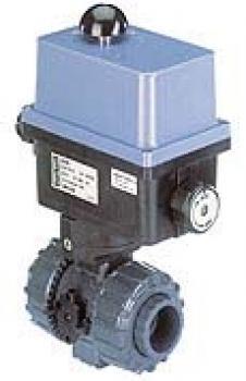 Kulkran - 2/2-vägs - med elektrisk svängdrivmekanism - rostfritt stål - DN 10 -