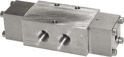 Pneumatisk ventil - 5/2-vägs - rostfritt stål