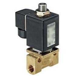 Solenoid Valve - 3/2-Way - Brass - 0 To 70 bar - Currentless Closed - G 3/8""