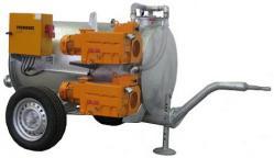 Unità elettrica a vuoto - pompaggio di acque sotterranee - 300 m³ / h - max. 25 m nastro trasportatore