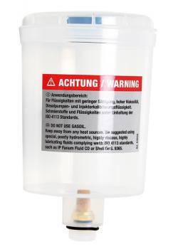 Kunststoffbehälter - mit Deckel - für verschiedene Flüssigkeiten geeignet