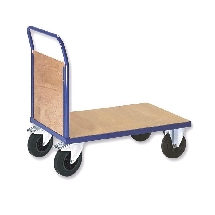 Panelled end platform carts - loading area 1000x700 mm - 1200x800 mm