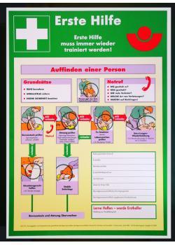 Anvisningar första hjälpen - affisch - plast (PVC) - väderbeständig