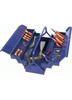 Tool set - 41 pieces - steel sheet toolbox