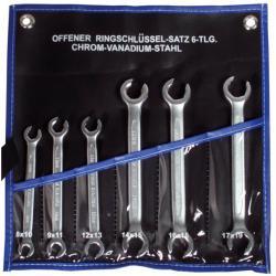Offener Ringschlüssel- Satz - 6-tlg. - 8x10 bis 17x19 mm