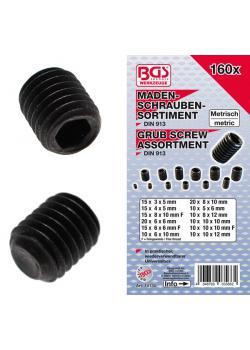Madenschrauben-Set - steel according to DIN 913 - 160 pcs.