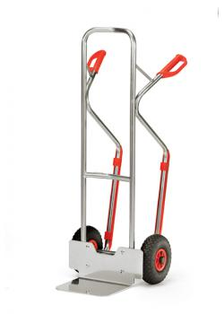 Alu hand truck - carrying capacity 200 kg - solid rubber tires