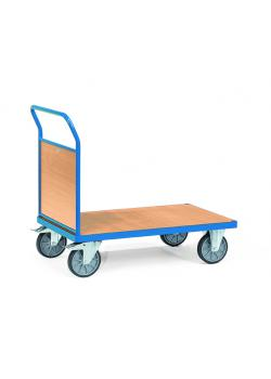 Platform trolley - with end wall of wood - up to 600 kg