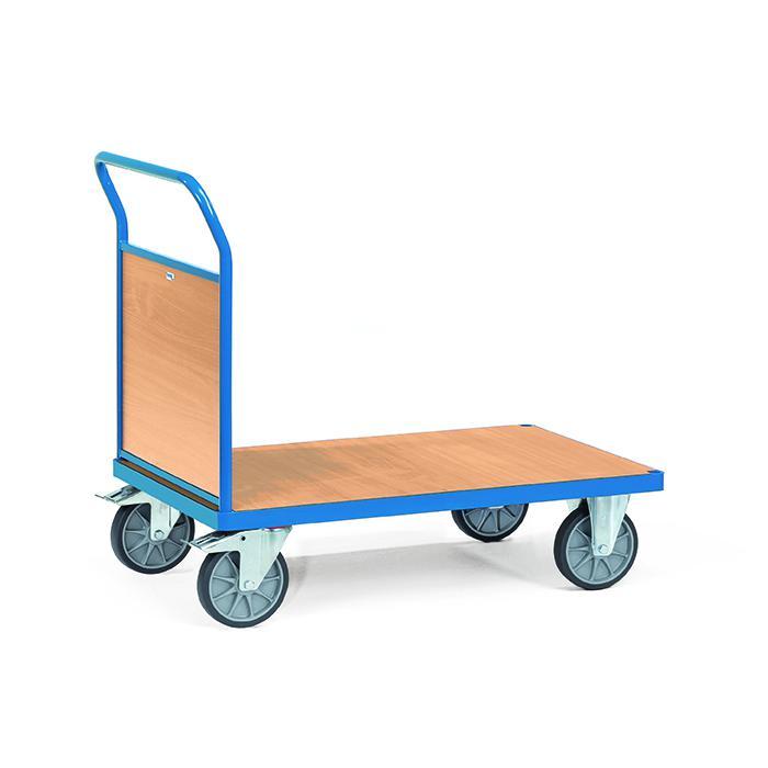 Platform trolley - con parete di fondo del legno - fino a 600 kg