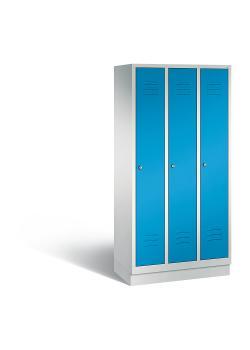 C+P Garderobenschrank Classic - Stahl - hellblau - mit Garderobenstange - H 1800 x B 900 x T 500 mm