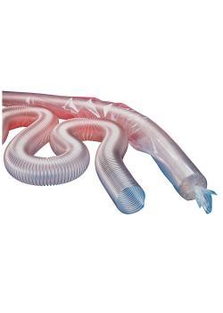 PROTAPE® PUR 301 AS - antistatischer Polyurethanschlauch - superleicht - mikrobenfest - schwerentflammbar - Länge 5 bis 15 m - verschiedene Ausführungen