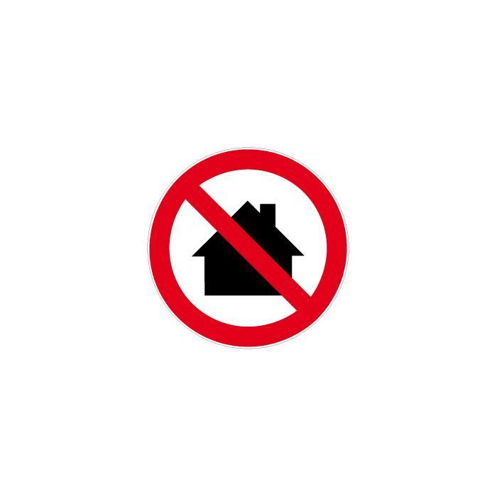 """Verbotszeichen - """"Nicht in Wohngebieten verwenden"""" - Ø 5-40cm"""
