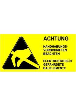 """Varningsmärke """"Varning sedelhanteringsinstruktioner"""""""