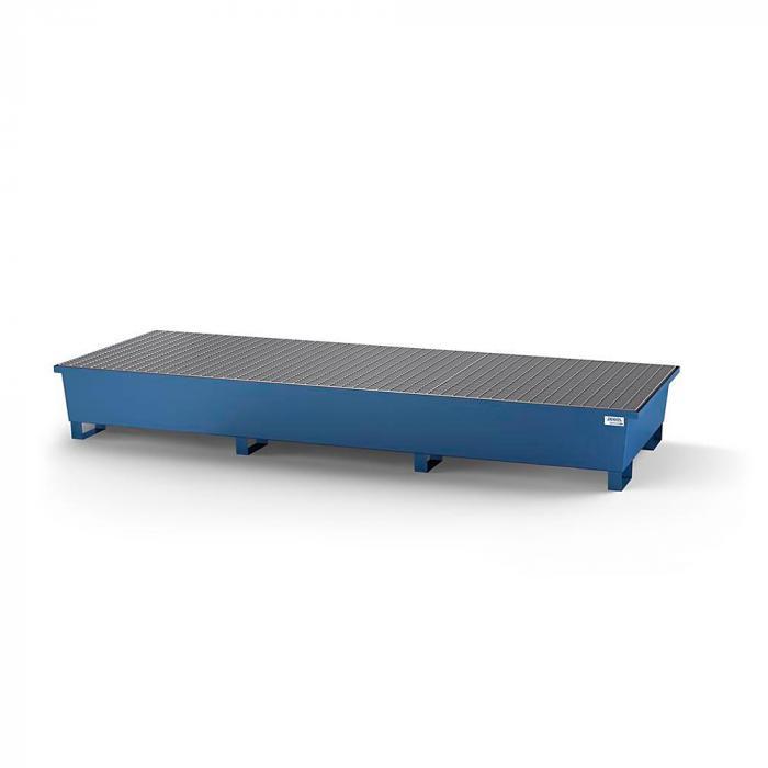 Auffangwanne classic-line - Stahl lackiert oder verzinkt - für 3 IBC - 3 Gitterroste