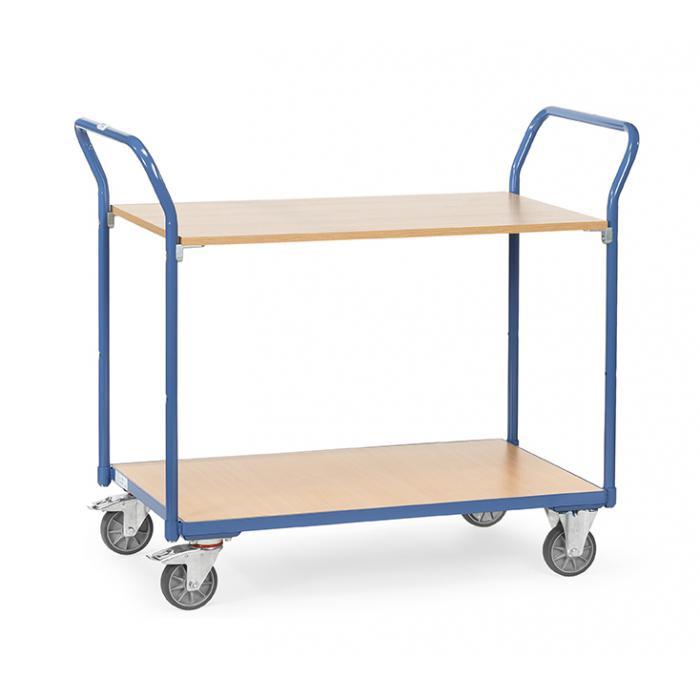 Tabella trolley - portata 200 kg - con 2 ripiani