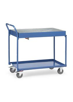 Table trolley - with metal trays and grating