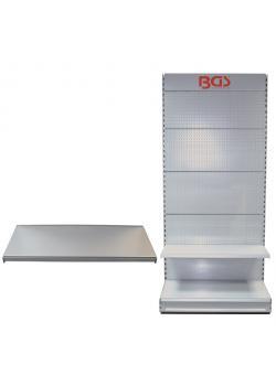 Zusatzboden - für Verkaufswand BGS - silber lackiert