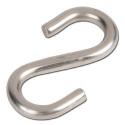 Not S-Haken - für Abhängung von Ketten - Edelstahl - Ø 3,8 mm - Hakenöffnung 4 mm - Gesamt 35 mm