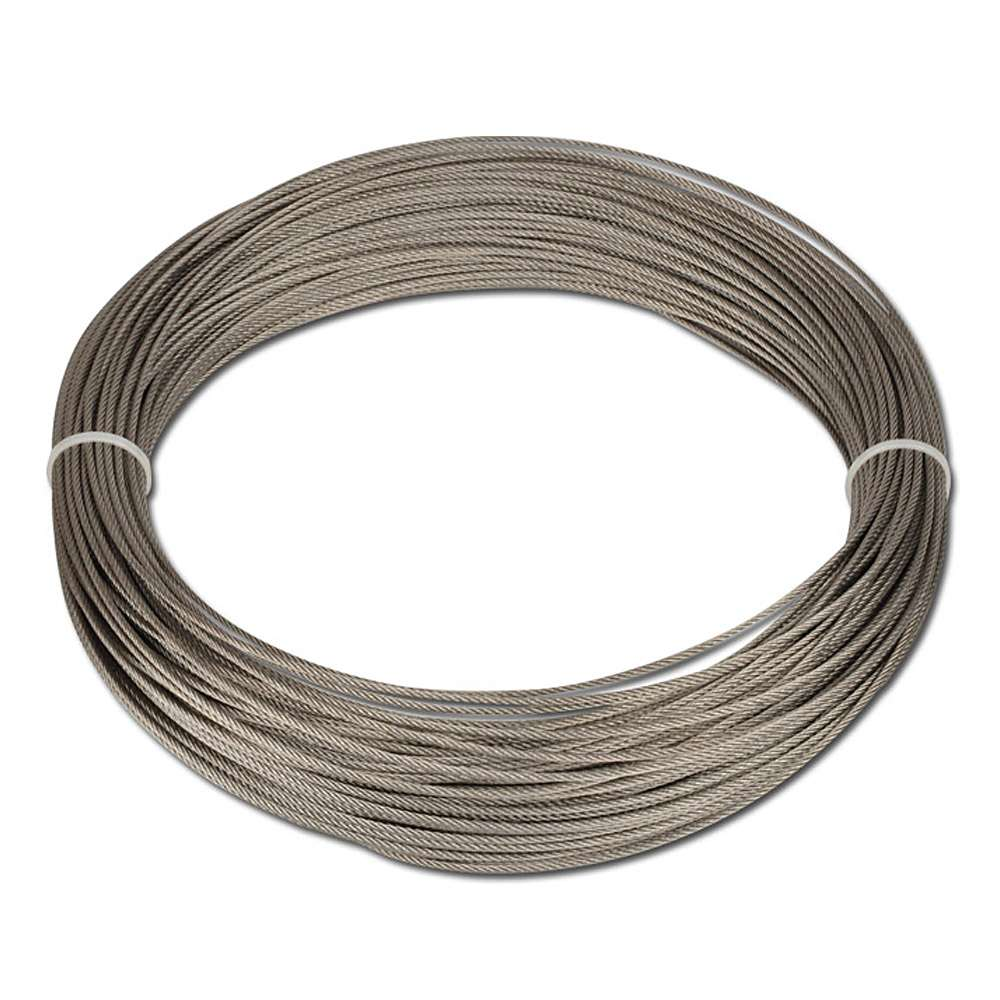 Wire rope box zinc-plated/transparent coated
