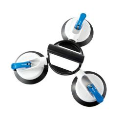 Veribor® 3-Kopf-Gelenksaugheber - Kunststoff - Saugscheiben-ø 150 mm - Tragkraft 75 kg - 3 Saugteller\n