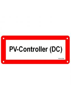 """Tecken för solcellssystem - """"PV styrenhet (DC)"""""""
