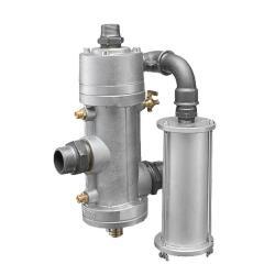 Fernbedienung für Druck-Strahlkessel mit 1½ Zoll Verrohrung - für 20 und 40 l Strahlkessel - einteilig mit Schalldämper
