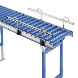 lateral guide for light and small roller conveyors