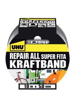 UHU Kraftband Reparera alla - rulle 10m x 50mm - svart