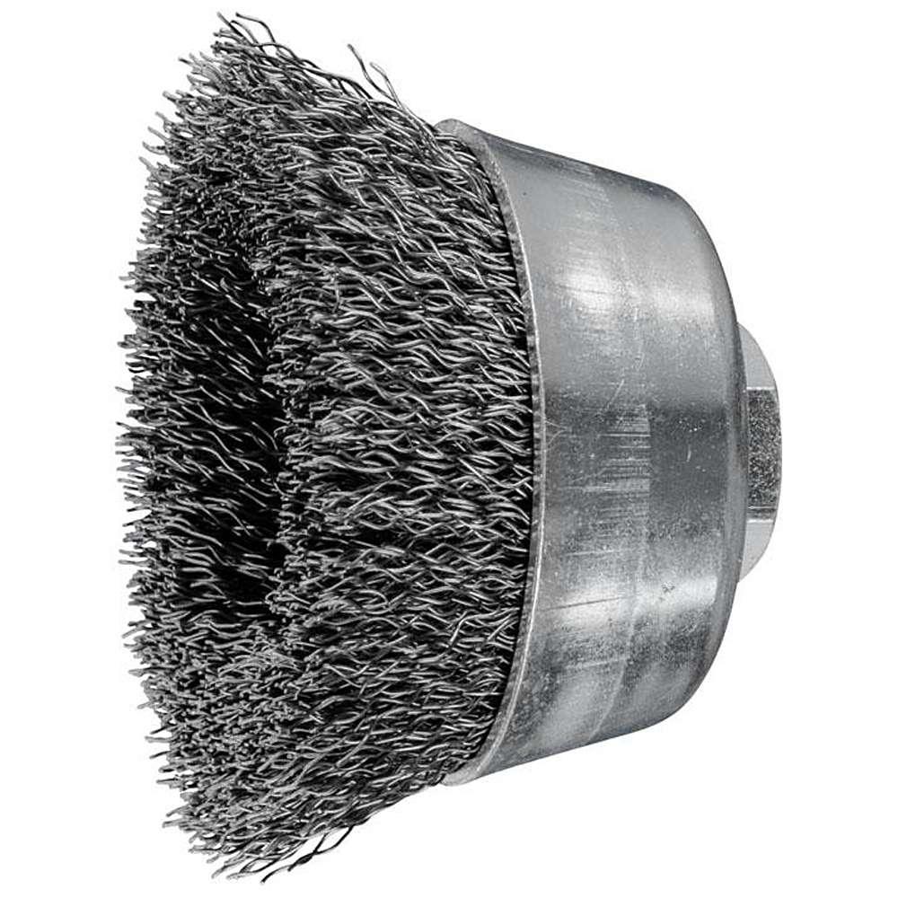 Topfbürste - PFERD - ungezopft, aus Stahldraht - mit Gewinde - für Stahl