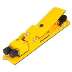 Sicherheitsschalthebel pneumatisch - Totmannschalter mit Luftaustritt - 2 x ¼ Zoll außen - Alu-Druckguss