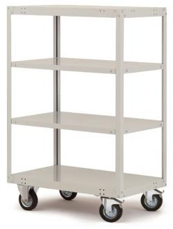 "Mobile Shelving ""Transo"" - 4 Shelves - Lifting Capacity 500 kg - Height Up To154"
