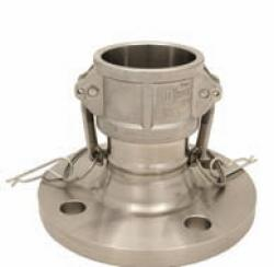 """Camlock Coupling Type DF - VA - 1/2"""" Up To 6"""" - With Safety Lever And Flange Acc"""