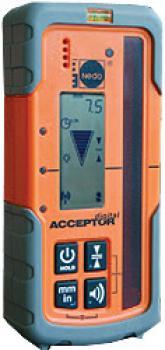 """Lasermottagare """"NEDO ACCEPTOR digital"""" - med digital display - för roterande laser"""