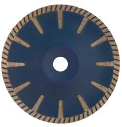 Diamanttrennscheibe Granit - Turborand Segmenthöhe 9 mm für Winkelschleifer - Tr