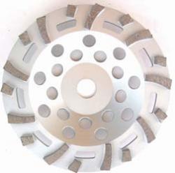 Schleiftopf Diamant fächerförmig - für Beton und Naturstein Qualität Standard-pl