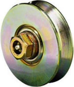 Laufrolle - Stahl verzinkt - halbrunde Nut - Kugellager - nachschmierbar - Rad-Ø 157 bis 247 mm - Tragkraft 710 bis 800 kg