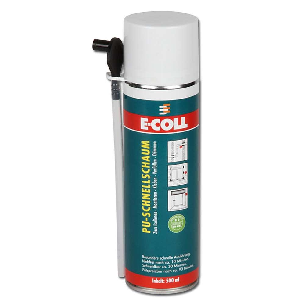 PU Quick Foam - 500 ml - CFC-fri - byggmaterialklass B2 enligt DIN 4102 - E-COLL