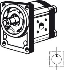 Gear Pump BOSCH REXROTH - Boschflange - Clockwise Rotation