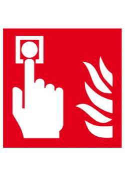 """Brandskylt """"brandlarmsknapp"""" - sidolängd 5-40 cm"""