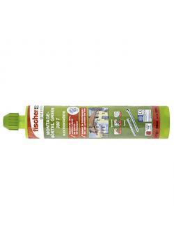 Montagemörtel 300 T GREEN - 300 ml - 1 Kartusche - 2 Statikmischer (inkl. Clip mit Eurolochung)