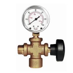 Tillbehör för tryckprovspumpar - Anslutningsdel med tryckmätare och avstängningsventil