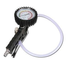 """Pistolet de gonflage des pneus """"BGS"""" - jusqu'à 10 bar - manomètre Ø 80 mm - tuyau 50 cm"""