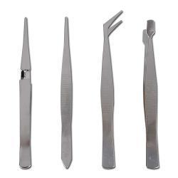 Pinzettensatz - Länge 105-120 mm - verchromt - 4-tlg.