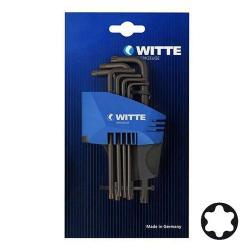 Restposten - Winkelschraubendreher gehärtet, Torx Set 8-teilig Kunststoffhalter