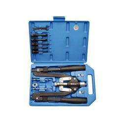 Handnietzange - 3,2 mm bis 6,4 mm - Scheren-Ausführung - im Koffer