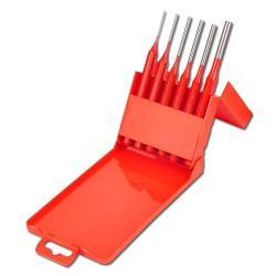 Splinttreiber-Satz - CV-Stahl - 6-teilig - poliert - rot lackiert