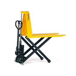 Scissor Pallet Truck - 1000 kg - steering wheels made of solid rubber - Fork rollers nylon